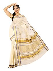 Off White Saree 66525 - 58318-015