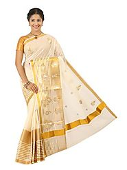 Off White Saree 66528 - 58330-016