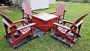 Wood Pallets Adirondack Patio Set