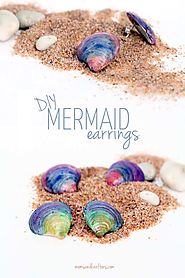 You won't believe how easy these mermaid earrings are to make!