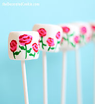 EASY rose garden marshmallows for Valentine's Day (with video) - The Decorated Cookie