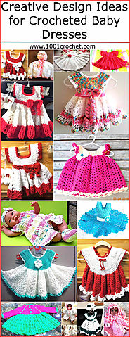 Creative Design Ideas for Crocheted Baby Dresses