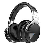 Cowin E-7 Active Noise Cancelling Wireless Bluetooth Over-ear Stereo Headphones with Microphone and Volume Control - ...