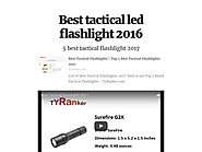 Best tactical led flashlight 2016
