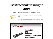 Best tactical flashlight 2017