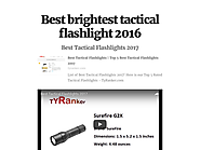 Best brightest tactical flashlight 2016