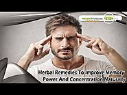 Herbal Remedies To Improve Memory Power And Concentration Naturally