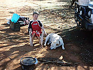 Camping with Michael my youngest with his pet dog - The Flying Bushman