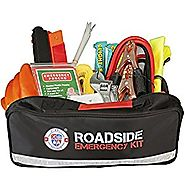 Always Prepared 65-Piece Roadside Assistance Auto Emergency Kit with Jumper Cables