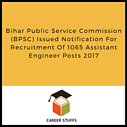 BPSC Recruitment – 2017 Apply For Assistant Engineer & Mobile Veterinary Officers