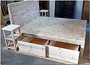 Wooden Pallet Sectional Bed Plan