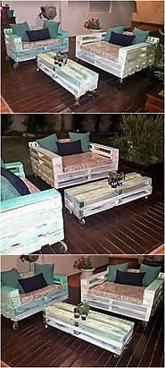 Repurposed Wooden Pallets Furniture Set