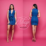 Change your look with denim zip dress available online