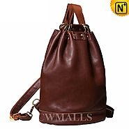 CWMALLS® Women's Leather Bucket Backpack CW252083