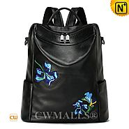 CWMALLS® Women's Floral Embroidered Backpack CW207013