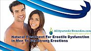 Natural Treatment For Erectile Dysfunction In Men To Get Strong Erections