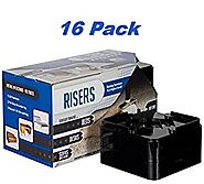 "Raise Its - Clear Furniture Risers 16 pack (for 4"" height or 2 Beds 2"" Height) - For the Bed, Desk, Table or Dresser ..."