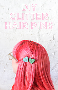 DIY Glitter Hair Pins - The Crafted Life