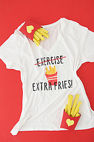 DIY French Fries Tee Shirt - Damask Love