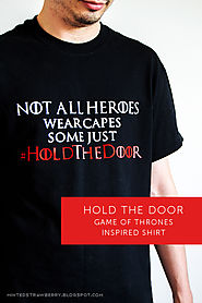 DIY: Hold the Door Fan Shirt + Free PNG Cutting File