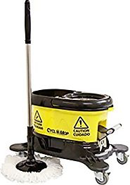 CycloMop® Commercial Spinning Spin Mop with Dolly Wheels - Heavy Duty Design for Years of Use