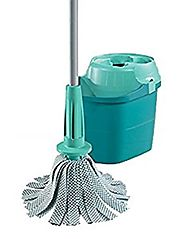 Leifheit Twister Spin Wet Mop Set Easy Wring (Bucket + Mop) (Bulk Package)