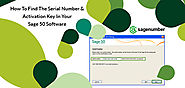 Find The Serial Number And Activation Key In Sage 50 Software - Sage Support