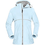 OutdoorMaster Womens' Rain Jacket - with Waterproof Hood & Reflective Stripes