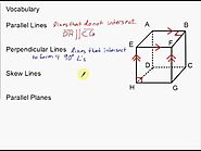 Vocabulary Parallel, Perpendicular, and Skew Lines and Parallel Planes