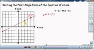 Writing the Point Slope Form of the Equation of a Line