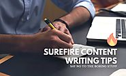 24 Surefire Content Writing Tips for Beginners - Red Dot Geek