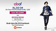 Abof Coupons, Offers: Get Cashback Up to Rs 210 Now
