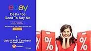 Ebay Coupons, Offers: Avail Cashback Upto 8.40% Now