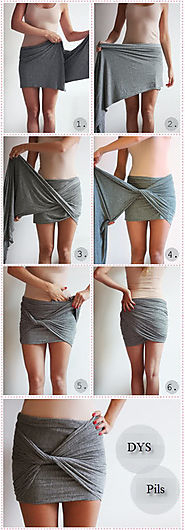 DIY Skirt Without Sewing