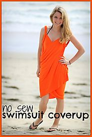 No Sew Easy DIY Swimsuit Coverup