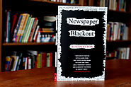 Austin Kleon: Newspaper Blackout: Newspaper + Marker = Poetry.