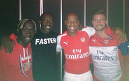 Is Thierry Henry wearing next season's leaked Arsenal Puma kit?