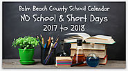 Palm Beach County School Calendar for 2017-2018