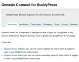 "WordPress › Genesis Connect for BuddyPress "" WordPress Plugins"