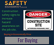 Construction site signs - Bannersnack