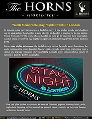 Make Your Night indelible With Stage Nights In London
