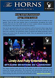 Lively And Fully Entertaining Stage Shows In London - Page 1