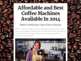 Affordable and Best Coffee Machines Available In 2015