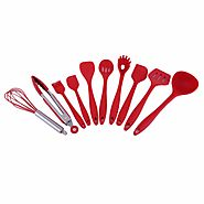 10Pcs/Set Home Kitchen Silicone Cooking Utensil Set High Temperature Resistant Kitchen Tool Set Cooking Tools - Kitch...