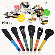 6PCS/SET Home Use Non-stick Heat-Resisting Nylon Cooking Tool Sets Durable Home Kitchenware Tools Kitchen Accessories...