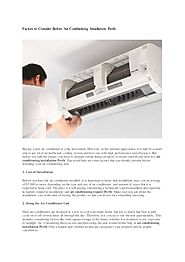 Factors to Consider Before Air Conditioning Installation Perth