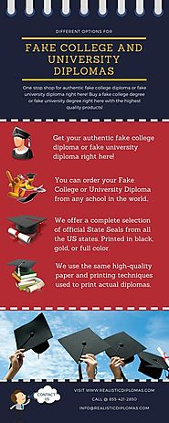 Order Fake College and University Diplomas Online • r/Infographics
