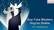 Buy Fake Masters Degree Online