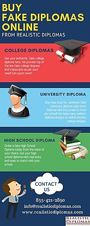 Buy Fake Diplomas Online from Realistic Diplomas • r/Infographics