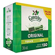GREENIES Dental Dog Treats, Teenie, Original Flavor, 130 Treats, 36 oz.